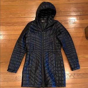 North face Thermoball Long Coat in Black